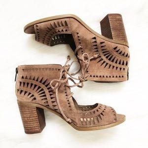 Vince Camuto Tarita Laser-cut Block Heel Sandal 7